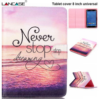 For iPad Mini Case Stand Leather Universal Tablet Case 8 inch Cover Casual Case 8'' For iPad Mini 4 Funda Tablet accessories