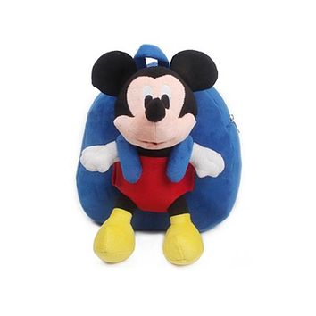 Boys Backpack Bag Good quality baby schoolbag plush  with Mickey Minnie dolls toys for girls children's school bag AT_61_4