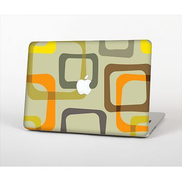 The Vintage Vector Square Pattern Skin Set for the Apple MacBook Air 11""