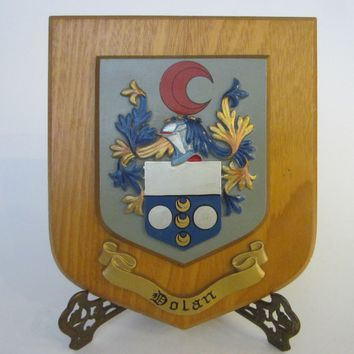 Historic Dolan Crest Family Coat Of Arm  Great Britain Art Plaque