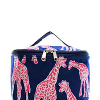 Giraffe Small Cosmetic Bag - 2 Color Choices