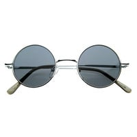 Small Retro-Vintage Style Lennon Inspired Round Metal Circle Sunglasses