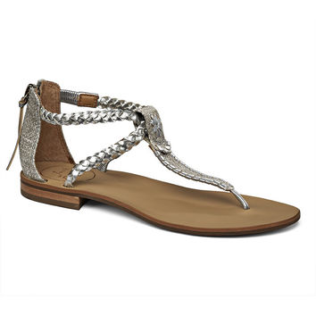 Jenna Sandal in Silver by Jack Rogers