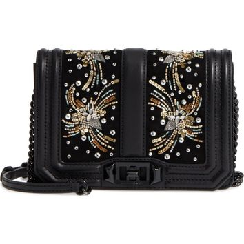 Rebecca Minkoff Small Love Embellished Leather Crossbody Bag | Nordstrom