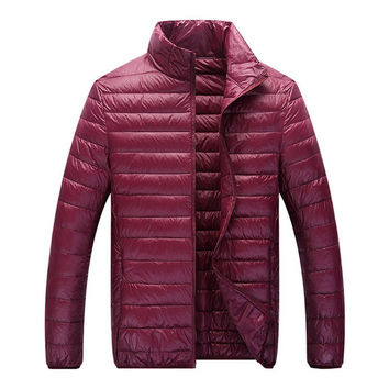 Classic Puffer Jacket Berry