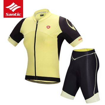 Women's Short-Sleeve Breathable Shirt & Pants Cycling Set