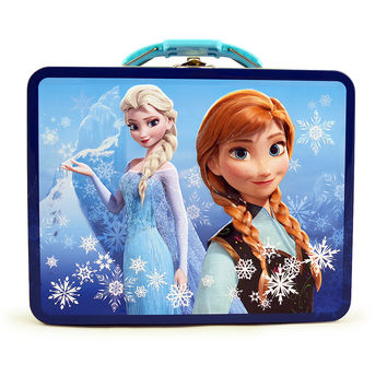 Disney Frozen - Tin Lunch Box - Turquoise and Blue