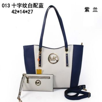 MK PURSE WOMEN HANDBAG SHOULDER BAG TOTE+WALLET MK013