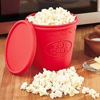 High Quality Silicone Microwave Popcorn Maker Bucket Snack Bucket Family Party Supplies Kitchen Tools Popcorn Container