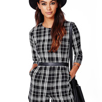 Black and White Co-ords In Tartan Print