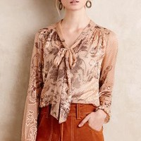 Bryna Tie-Neck Blouse
