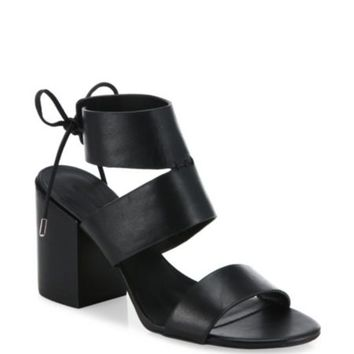 Rebecca Minkoff - Christy Leather & Denim Block Heel Sandals