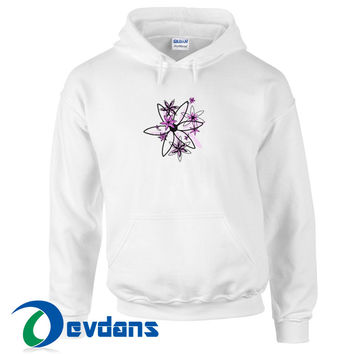 Shades Of Pink Flowers Hoodie Unisex Adult Size S to 3XL