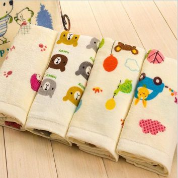 Cute 100% Cotton Children Towels Cartoon Face Towels New Arrival Comfortable Baby Face Towels 50x20CM