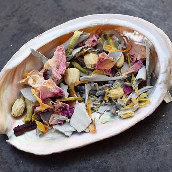 GODDESS SMUDGE MIX Purify Your Magical Space, Herbal Incense, Moon Ritual Incense