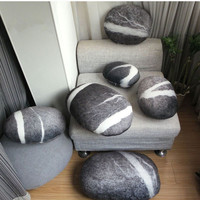 New Arrival outdoor cushions Living Stones Pillow Colorful Country Road Pebble floor cushions