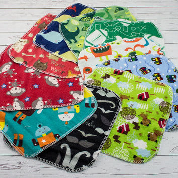 Cloth Wipes, Eco-Friendly - Baby Boy Wipes  - Set of 50 - Reusable