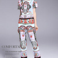 Givenchy The latest fashion women's short sleeve T-leggings printed suit