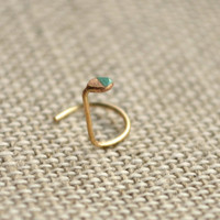Mint dipped extra thin extra tiny disc nose ring by upscalehare