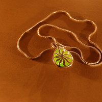 Glow in the Dark Jewelry - Green Glowing Necklace - Pendant - Gifts for Her - Birthday Gift - Water Drop - Little Sun