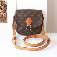 Louis Vuitton Monogram Saint Cloud PM Shoulder Crossbody Bag Authentic 80s