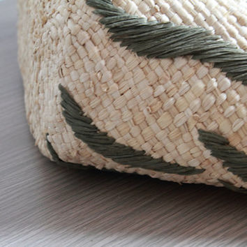 large beach tote/Ladies Hand-woven Shopping Beach Basket Fully Lined Straw Bag / Satchel Bag Tote