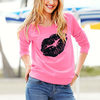 Graphic Fleece Pullover - Supermodel Essentials - Victoria's Secret