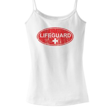 Lifeguard Womens Spaghetti Strap Tank Top