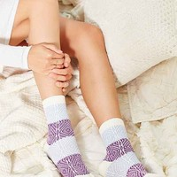 Colorblock Patterned Crew Sock