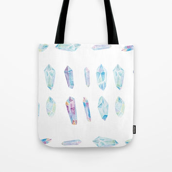 Watercolor Gemstones Tote Bag by cadinera