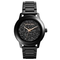 Kinley Pavé Black Stainless Steel Watch | Michael Kors