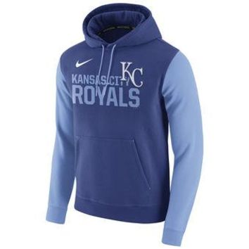Kansas City Royals Nike MLB Blue/Lt blue Ultra Fleece Pullover Hoodie