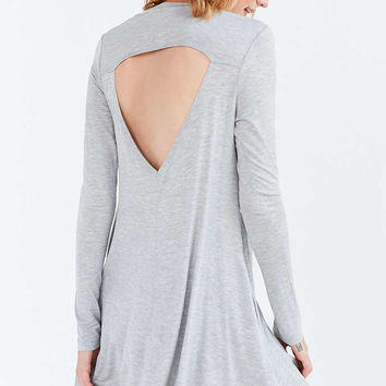 Silence + Noise Long-Sleeve Cutout Back T-Shirt Dress - Urban Outfitters
