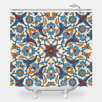 French Bohemian Shower Curtain