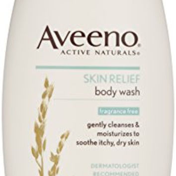 Aveeno Active Naturals Fragrance Free Skin Relief Body Wash, Soothing Oatmeal, 18 oz.