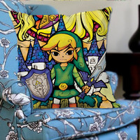Legend of Zelda Triforce on Decorative Pillow Cover by NaystaCover