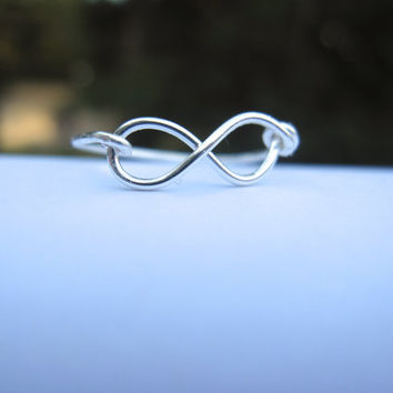 Gift  Infinity Ring by DesignedByLei on Etsy