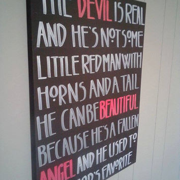 American Horror Story Quote 18x24 Painting