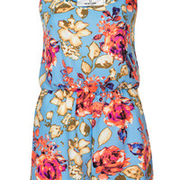 **Neon Floral Playsuit by Oh My Love