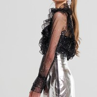 Gabriella Star Ruffle Blouse Discover the latest fashion trends online at storets.com