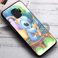 Cute Playing Guitar Stitch iPhone X 8 7 Plus 6s Cases Samsung Galaxy S9 S8 Plus S7 edge NOTE 8 Covers #SamsungS9 #iphoneX