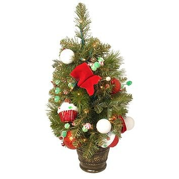 7.5' Orchid Pink Cedar Pine Artificial Christmas Tree Unlit