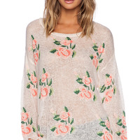 Wildfox Couture Prairie Rose Sweater in Pink