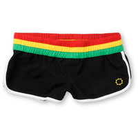 Empyre Girl Beaux Too Black & Rasta Board Shorts