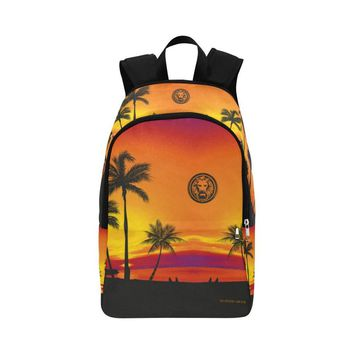 Backpack, Tropical Black Palm Trees
