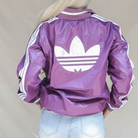 VINTAGE 90s Purple Adidas Windbreaker