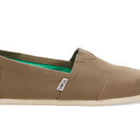 TOMS Taupe Canvas Men's Classics Natural