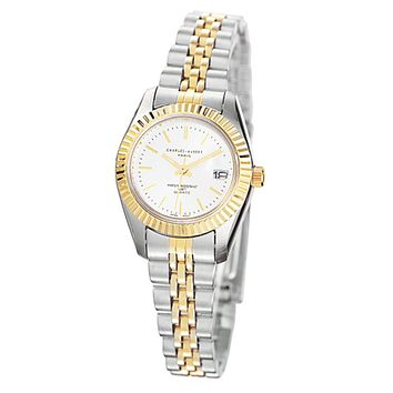 Ladies Two-Tone Panther Link Watch by Charles Hubert
