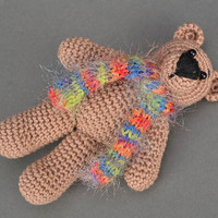 Handmade soft toy Crocheted Teddy Bear toys Cute stuffed animals for babies