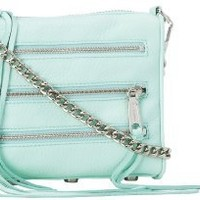 Rebecca Minkoff Mini 5-Zip H020E001 Convertible Cross-Body Handbag,Mint,One Size
